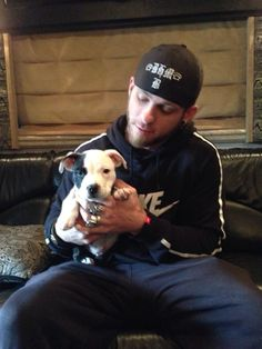 Brantley Gilbert with his dog Sylo. Check out the rest of our gallery of celeb pets >> http://my.gactv.com/great-american-pets/Celebrity-Pets/gallery.esi?page=1&pO=0