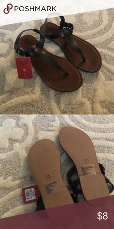Black sandals NWT.  Mossimo.  Black sandal.  Size 7.5 Mossimo Supply Co Shoes Sandals