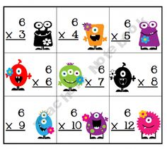 Multiplication facts too cute! 4th Grade Frolics, 3rd Grade Math, Third Grade, Teaching Multiplication, Teaching Math, Math 2, Teaching Ideas, Math Strategies, Math Resources