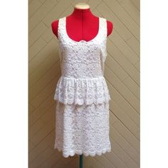 Pins and Needles Lace Peplum Dress NWT! Gorgeous dress from Urban Outfitters from the brand Pins and Needles. Cut-out in back. Hidden zipper just below the cut-out. Perfect for any occasion! ❌No trades❌ Pins & Needles Dresses