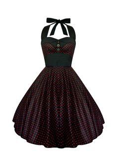 Lady Mayra Ashley Polka Dot Dress Vintage Rockabilly Pin Up 1950s Retro Style Gothic Lolita Steampunk Swing Prom Party Plus Size Clothing