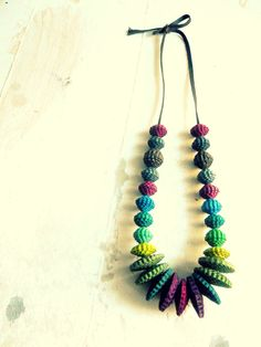 Rainbows-necklace long by Coccidicarta on Etsy