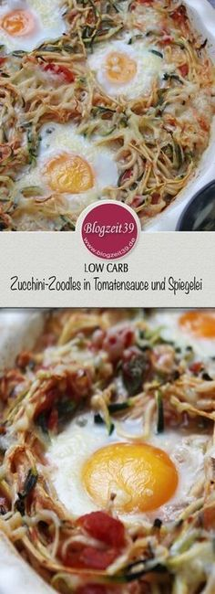 ow Carb Zucchini-Zoodles in Tomatensauce und Spiegelei, dass ich mindestes schon viermal innerhalb von drei Monaten meiner Familie serviert habe. #lowcarb #zoodles #food #zucchini #essen #rezept