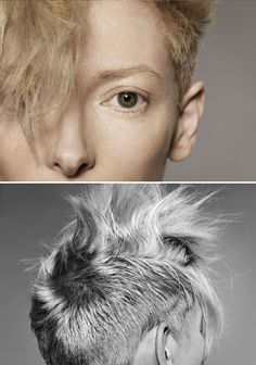 Tilda Swinton by Jan Welters, 2011 - can't decide if too extreme or exactly what I've been looking for.