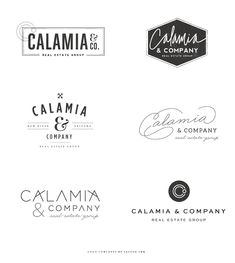 (looks more like a restaurant logo than real estate)-Calamia.BrandingConceptsbySaltedInk