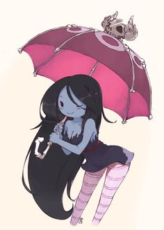 """Marceline from """"Adventure Time"""". I found this on TV few weeks ago and can't wait to see what Finn and Jake's next adventure is~ : p Marceline Adventure Time Girls, Adventure Time Marceline, Adventure Time Anime, Art Kawaii, Land Of Ooo, Marceline And Bubblegum, Finn The Human, Vampire Queen, Jake The Dogs"""