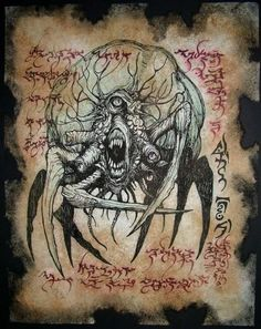 Cthulhu LARP Devouring Demon Necronomicon Monster Magick Occult Dark Art Witch | eBay