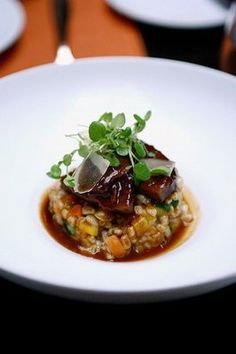 Short Rib w/ Farro Risotto at #Scarpetta #LA #restaurant