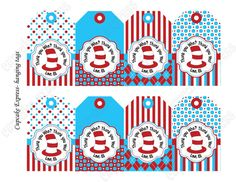 Dr Seuss personalized thank you tags