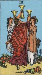 3 of cups - Tarot card Meaning ⋆ Tarot ExplainedTarot Explained
