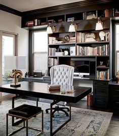 10 Ingenious Home Office Ideas for Ultimate Workspace. 38 Top Home Office Ideas With Black Walls Upgrading your workspace is important to make you keep productive. We have collected home office ideas to help you creating a cozy and pleasant workspace. Modern Office Decor, Office Interior Design, Home Office Decor, Office Interiors, Home Interior, Office Ideas, Home Decor, Office Designs, Contemporary Office