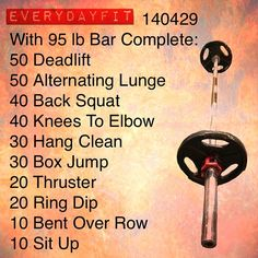 #EveryDayFit 140429 #crossfit #wod #workout