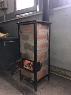 Diy Kitchen Furniture, Diy Kitchen Storage, Metal Furniture, Rustic Furniture, Barrel Stove, Diy Wood Stove, Oven Diy, Outdoor Stove, Backyard Fireplace