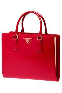 Prada - handbags red http://yourbagyourlife.com/