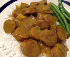 Recipe Curried (leftover) sausages with rice and veggies by The Thermominx - Recipe of category Main dishes - meat