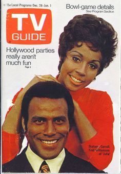 TV Guide, December 26, 1970  with Diahann Carroll & Fred Williamson from the TV series Julia