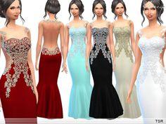 Long dress sims 4 resource