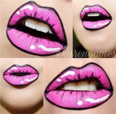 Makeup Artist ^^ | Pink and black lips  https://pinterest.com/makeupartist4ever/