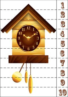 Cuckoo Clock PNG Clip Art in category Clock PNG / Clipart - Transparent PNG pictures and vector rasterized Clip art images. Maths Puzzles, Math Activities, Alice In Wonderland Clocks, Kindergarten Readiness, Wooden Clock, Step By Step Drawing, Everyday Objects, Best Web, Clipart