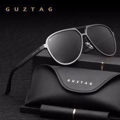 55f70aab19 GUZTAG Unisex Classic Brand Men Women Aluminum Sunglasses HD Polarized  UV400 Mirror Male Sun Glasses Women