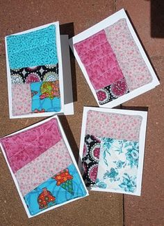 <3! Sew fabric onto a card? YES