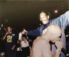 Tupac Shakur and Snoop Dogg