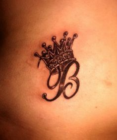 Crown Tattoo, my daughter has always been the princess, trying to find an initial tattoo to symbolize that .