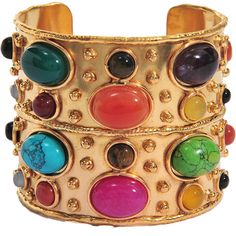 Love this: Silvia Toledano Cuff Bracelets, Bangles, Marrakech, Stone Jewelry, The Row, Turquoise Bracelet, Amethyst, Avril, Gold