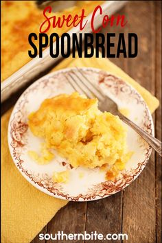 My Sweet Corn Spoon Bread is a perfect side for any dinner table. This recipe is fast and easy, and sure to please even the pickiest of eaters.