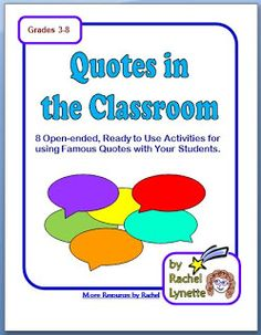 """""""Quotes"""" for Teachers"""