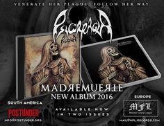 """""""METALHOUSE"""": PSICORRAGIA - """"MADREMUERTE"""" Nuevo Álbum (2016) #Psicorragia tiene nuevo CD 2016: """"Madremuerte""""  Lanzado por: MFL Records en febrero y PostUnder en abril. Existen 2 versiones en Edición Americana y Europea."""
