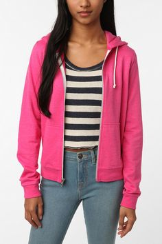 Just got this pink hoodie @ the sidewalk sale :) BDG- Urban Outfitters.