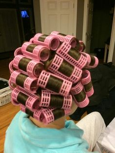 My Sissy Husband didn't know I had so many pink rollers ...