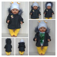 Handmade jacket for Baby Born boy or other doll till 43 cm 17 inch