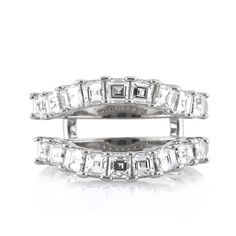 Mark Broumand - 1.80ct Asscher Cut Diamond Wedding Ring Jacket