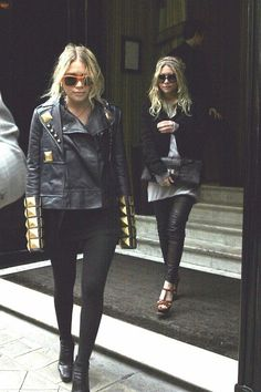 the black leather + gold studded jacket.