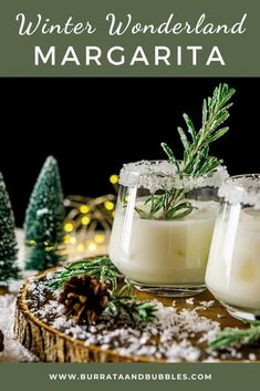 Winter Cocktails, Christmas Cocktails, Holiday Drinks, Fun Cocktails, Holiday Recipes, Christmas Recipes, Coconut Margarita, Margarita Recipes, Drink Recipes