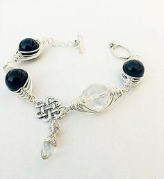 wire wrapped bracelet FREE SHIPPINGwire by SHINEmagicJewellery