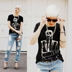 Karl Lagerfeld Shirt, Cotton On Necklace, House Of Harlow Sunglasses, One Teaspoon Jeans