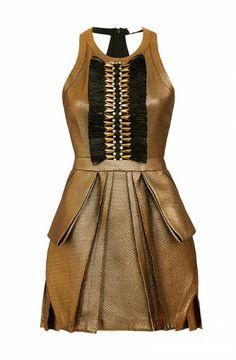 Sass & bide gold dress.