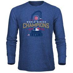 Chicago Cubs Majestic Threads 2016 World Series Champions Locker Room Tri-Blend Long Sleeve T-Shirt - Royal