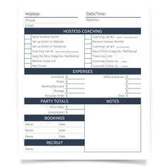 Party Pages - Download these direct sales party pages to make sure your party has everything it needs to be a success!