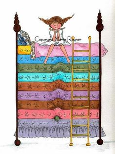 The Princess and The Pea, Mary Rayner Princess Alice, Princess And The Pea, Illustrations, Illustration Art, Art Doodle, Movie Crafts, Fairytale Art, Cute Monsters, Hans Christian