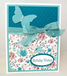 Pretty Shabby Chic Handmade Birthday Card by AcarrdianCards, $3.95