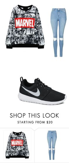 """""""marvel"""" by merel-meuleman ❤ liked on Polyvore featuring Topshop and NIKE"""