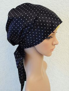 Black and white dotted women's satin by accessoriesbyrita on Etsy