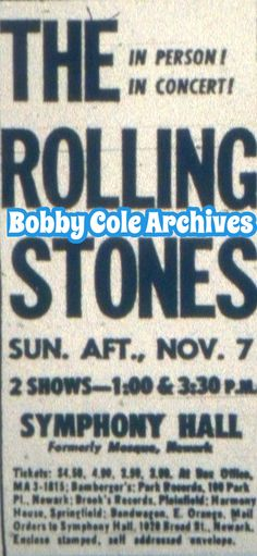 cbabb33c0c3 Rolling Stones at Symphony Hall -1965 Jersey Girl, Rolling Stones, Vintage  Ads,