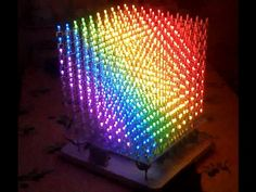 This video is part 1 of a series on how I'm building and RGB LED Cube. This video covers the testing of the 1000 led's I purchased for the cube. Led Projects, Electrical Projects, Electronic Circuit Projects, Electronic Art, Hobby Electronics, Electronics Projects, Led Cube Arduino, Light Art Installation, Rgb Led
