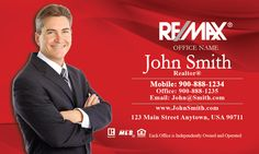 Remax Realtor business cards from $0.03 per card + FREE shipping - www.printifycards.com #printifycards