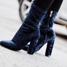 Simmi velvet ankle boots